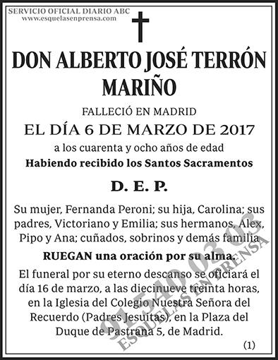 Alberto José Terrón Mariño